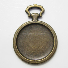 20mm round bronze Pendant Trays Blank Cabochon settings bezel