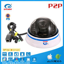 Motion Detection 9CH Indoor Dome IP Camera with Mobile Phone Viewing