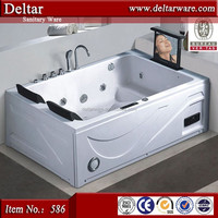 Bathtub for 2 Person with TV, Low Price Simple Design Rectangle Small Jet, Square Bathtub/Adult Bathtub