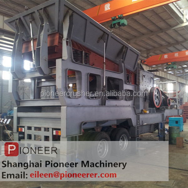 PIONEER 50t combine rock crusher/construction waste disposal plant