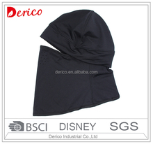 brushed polyester fabric black outdoor sports balaclava hat