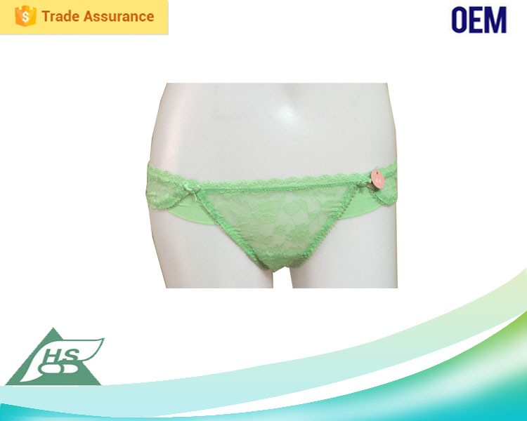 Attractive fashionable patterns kids thong underwear for women OEM Accepted