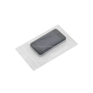 Custom one side clear plastic ziplock bag for iphone