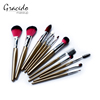 Top Quality 12pcs/kits plastic Handle Face Make Up Beauty Cosmetic Professional Makeup brush set