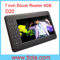"7"" inch E-book Reader with TFT LCD Factory OEM D20"