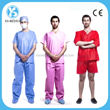 Uniform medical scrubs tops made in china