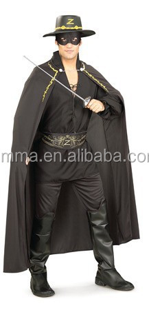 Adult Zorro Deluxe Muscle Chest New Fancy Dress Costume Mens Gents BM565