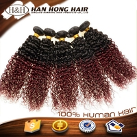 hair bundles brazilian deep curly ombre colored synthetic hair extensions