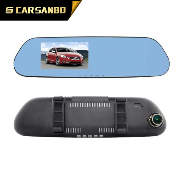 Manufacturer 5.0 inch fhd 1080p android rearview mirror DVR with GPS optional