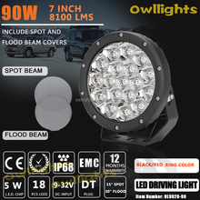 "Auto Parts High Lumen 8100lm 90w 7"" LED Headlight, Round Driving Light, HID Replacement Work Lamp for agricultural equipment"