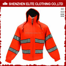 Winter Construction Workwear Engineer Reflective Safety Red Jacket
