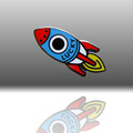 Rocket Lapel Pin,Hard Enamel Badge Pin,wholesale custom