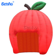 T0294 commercial giant air inflatable Apple dome tent/cute red apple inflatable dome tent prices, inflatable tent type for sale