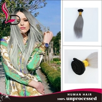 Hair manufacturers brazilain hair weave long hair in natural grey color