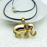 2013 fashion jewelry small alloy elephant design pendant necklace