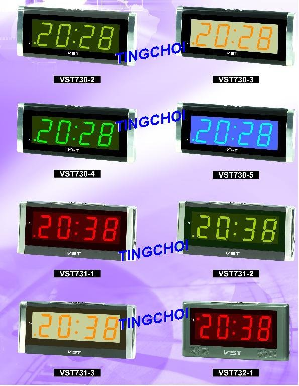 digital alternately display with clock date and temperature