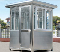 New style Stainless steel outdoor security Guard house prefabricated portable booth made in China