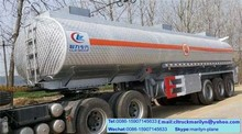 40m3 oil tank trailer aluminum round fuel tank used oil tankers trailer for sale