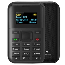 Free Sample AEKU C8 Card Mobile Phone 1.3 inch, MTK6261D, Support Bluetooth, GPRS Position, GSM (Black)