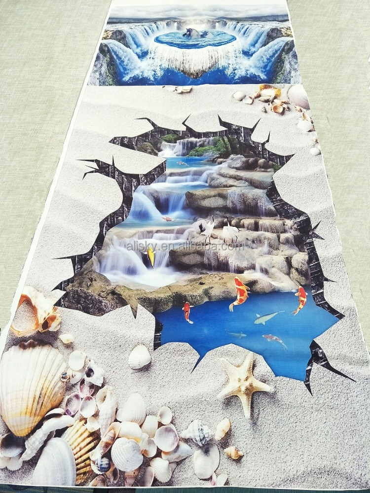 2017 hot sell 3D vision vinyl pvc flooring carpet with CE certificate cheap price