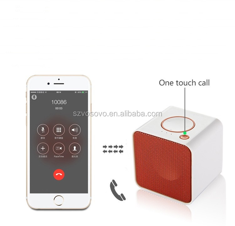iHome Mini Cube Bluetooth Wireless Speaker - red