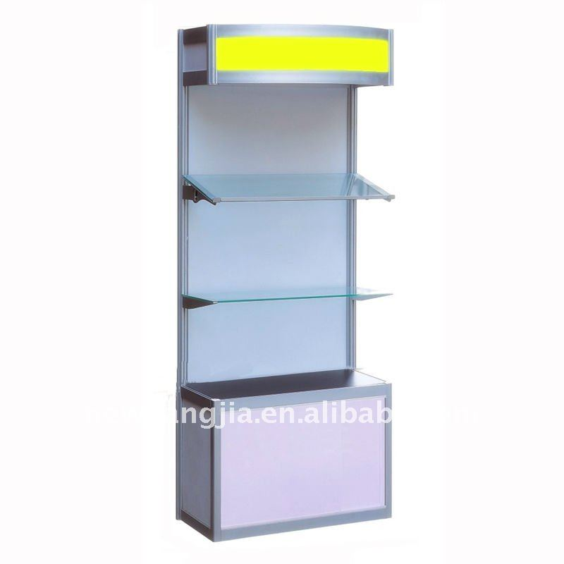 Portable aluminum display stand