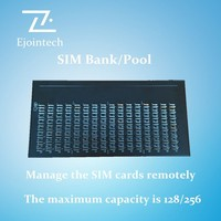Ejoin sim pool 128/256 channel option,perfectly control voip gateway via Internet