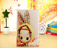 Confused doll series leather case stand for ipad mini