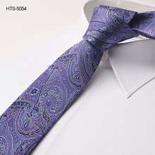 Classic Purple Natural Jacquard Woven Floral Silk ties