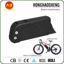 Lithium ion 48V 11.6Ah battery Downtube Mounted 48 volt Electric Bike Battery with 5V USB port dolphin case for BBS02 kits