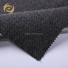 hot sale wholesale cheap custom cool black melange wool rib fabric