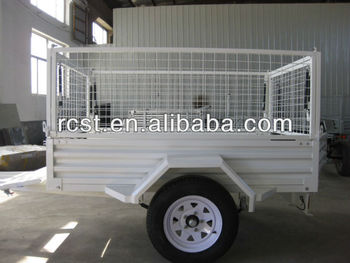 Powder coated multifunctional caged trailer, box trailer