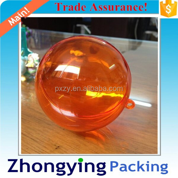 High Quality Plastic Transparent Xmas Ball (Colorful transparent)