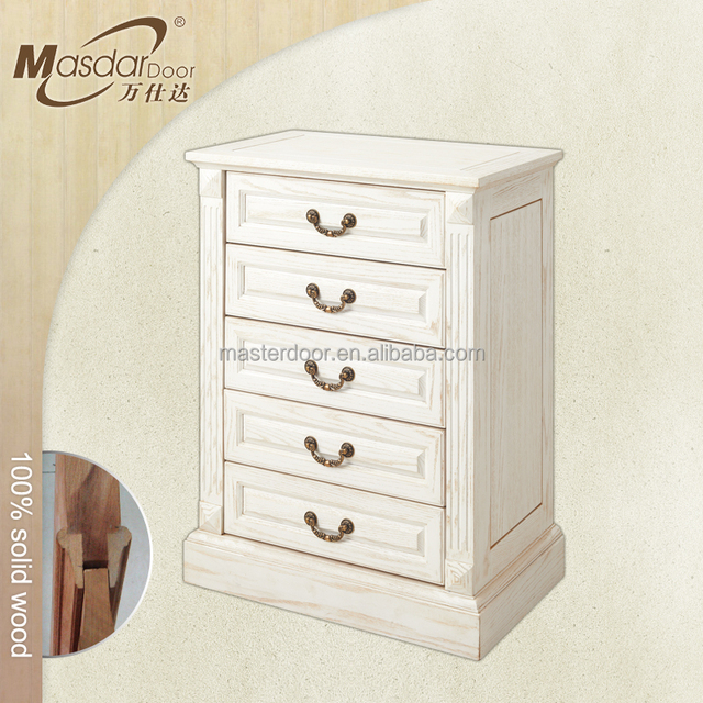 Cheap white solid wood chest of drawers furniture