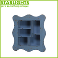 antique MDF blue wooden wall shelf with drawers for sell