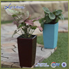 High quality sky blue Mini Square Succulents plastic selfwatering flower vase flowerpots & planter GQ1