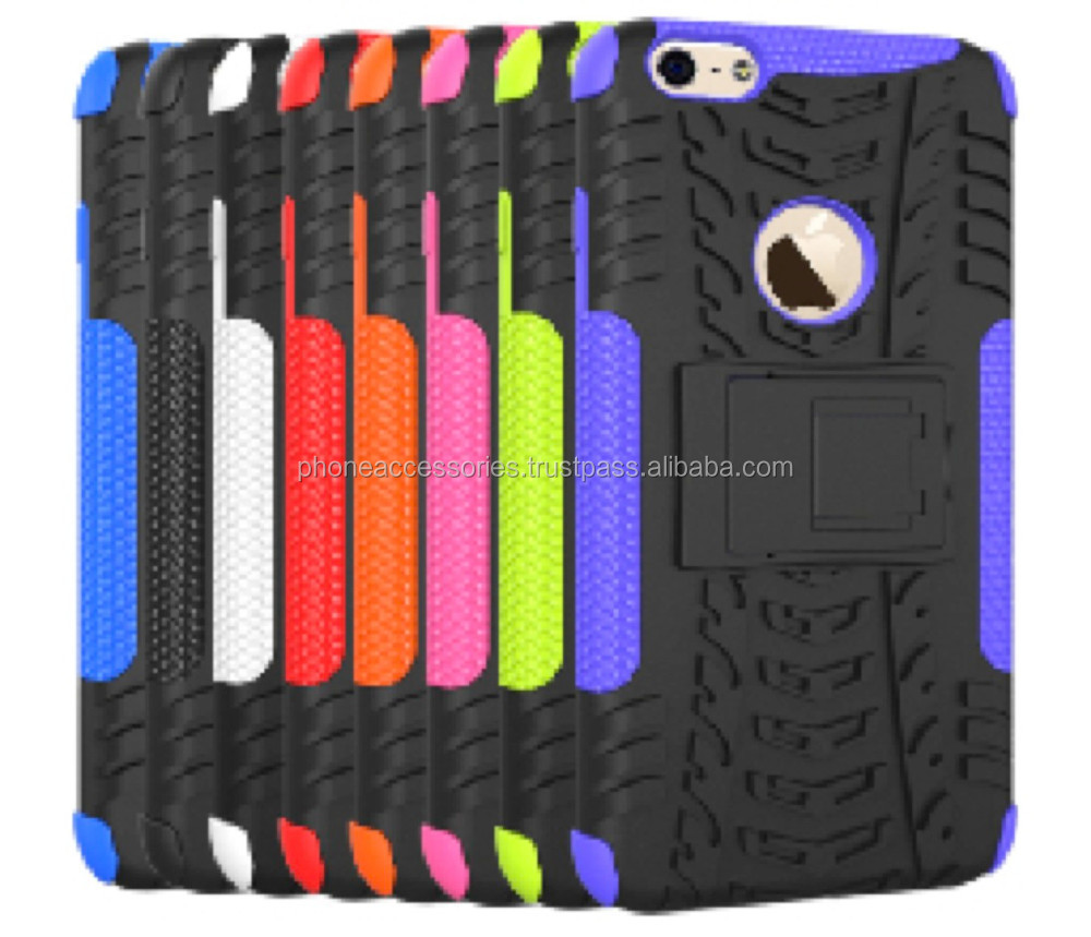 Colorful Frame and Tyre Style Desgin combo case with stand for iPhone 6, iPhone 5 and iPhone 4 and for Samsung S5 and Note 3