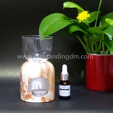 Ceramic Aroma Incense Burner With Marble Printing