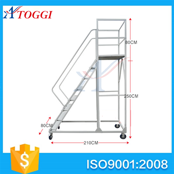 Folding Metal Attic Ladders With Handrail