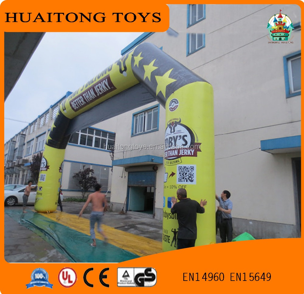 Inflatable Finish giant Arch with customized design/Inflatable Entrance Arch for advertisement