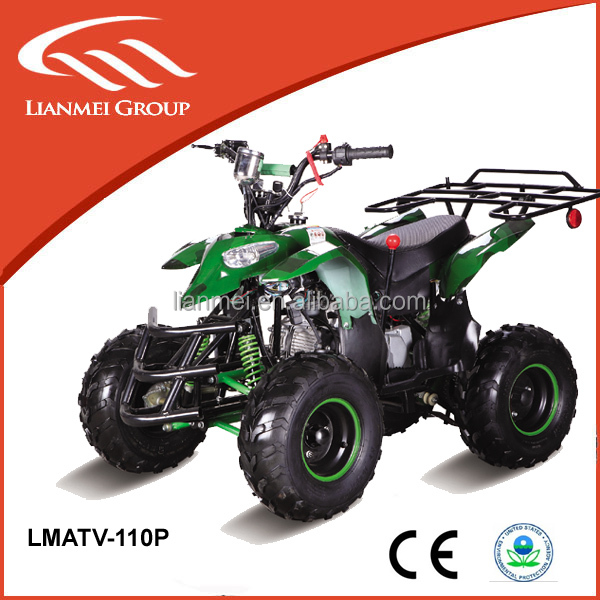chinese gas power 4 wheel motorcycle 110cc atvs with new design