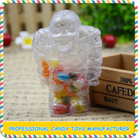 High quality mini clear plastic mummy toys with candy