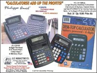 Large Display Desktop Calculators