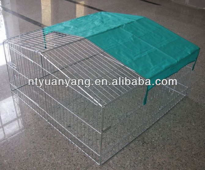 trade assurance cheap outdoor foldable rabbit cage with cover