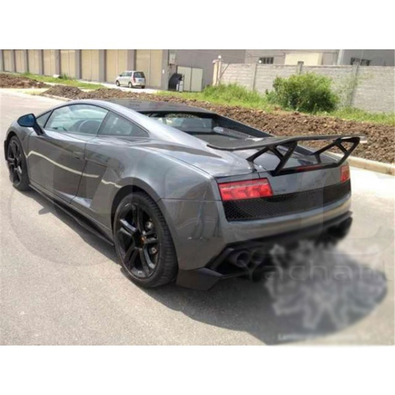 Trade Assurance Carbon Fiber Rear Spoiler w/ FRP Fiber Glass Stand Fit For 2003-2014 LP550 LP560 LP570 SV Style GT Wing