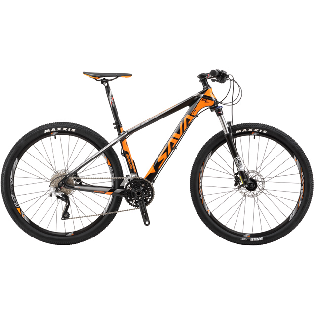"NEWEST SAVA factory 27.5"" CARBON MOUNTAIN BIKE MTB 30 SPEED SRSUNTOUR FORK XCM-HLO HYDRAULIC DISC BRAKE MAXXIS TIRE"