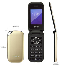 iPro Latest 2.4 inch flip design cellphone simple function cell phone for business people, children, old person