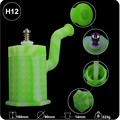 Hexagon shape silicone dab rig 5.5 inch titaniun nail silicone smoking water pipes