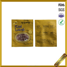 Three sides sealed 3 layers laminated aluminum foil coffee empty tea sachet bag with easy to tear