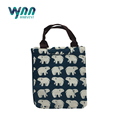 Promotional Portable Cute Reusable Cotton Lunch Bag Insulated Lunch Tote Soft Bento Cooler Bag
